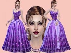 Trudie55: Purple Formal dress • Sims 4 Downloads