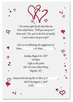 Fun Engagement Party Invitation Wording | Engagement Party ...
