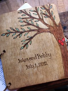 Custom Wedding Guest Book  Tree by LazyLightningArt on Etsy, $40.00