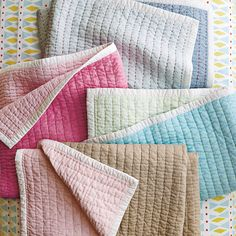 Mini Cabin Quilt – Juice | Serena & Lily- oh those colors...