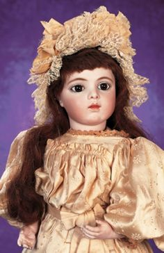 Purple Skies, Plum Delights : 189 A Very Beautiful French Bisque Bebe Bru Jne,Size 8,with Classic Face
