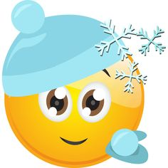 This smiley is ready to head into battle--a wintry snowball fight with its friends. Smileys, Funny Emoticons, Silly Faces, Cute Faces, Funny Faces, Smiley T Shirt, Smiley Emoji, Emoji Images, Emoji Pictures