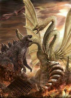 Godzilla and enemies