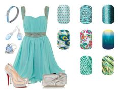 Auqua dress & nails  www.jensjamnails.jamberrynails.net