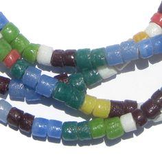 Spring Medley Sandcast Cylinder Beads