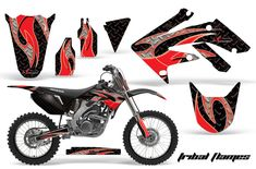 Honda Graphic Kits - Honda MX Decals and Stickers for dirt bikes crf cr cr crf crf xr cr Honda Dirt Bike, Dirt Bikes, Bike Stickers, Kit, Motocross, Motorcycle, Racing Bike, Decals, Vehicles