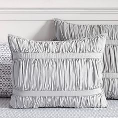 Pucker Up Comforter, XL Twin, Light Grey
