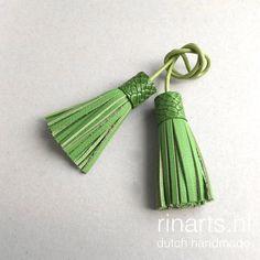 Green double tassel