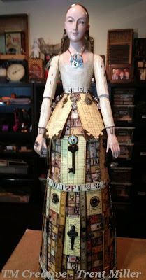 Beautiful Santos Doll created by Artist Trent Miller