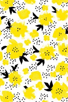 yellow-flowers-wrapping-paper