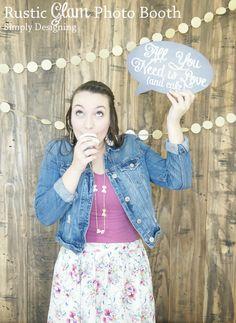 Rustic Glam Wedding Photo Booth | #wedding #shutterflywedding @Shutterfly #photobooth #printable