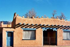 Adobe houses in New Mexico