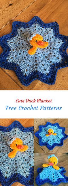 Cute Duck Blanket Free Crochet Pattern #crochet #crafts #homedecor #style