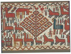 Detail of Viking era tapestry, the oldest tapestry in Europe.  Photo by Jamtli