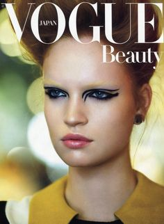 edgy eye makeup for vogue japan cover. it's a cold treatment almost vamp like with skin makeup almost morbid. Edgy Eye Makeup, Skin Makeup, Beauty Makeup, Hair Beauty, Vogue Makeup, Vogue Beauty, Raymond Meier, Cool Makeup Looks, High Fashion Makeup