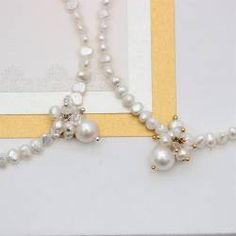 modern white pearl wedding choker necklace