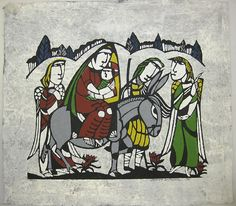 The Flight into Egypt (Grey) by Sadao Watanabe - medieval quality to this