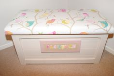 Wonderful Handmade Pine Wood Toy Box with Beautiful by DearFlossie,