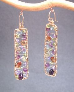 Bohemian+61+Hammered+rectangles+with+amethyst+by+CalicoJunoJewelry,+$120.00