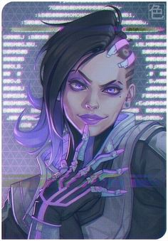 Sombra fan art by Kyle Martin : Overwatch