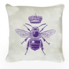 Jubilee Bee with Crown Cushion