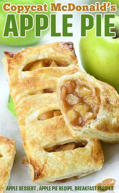 Fried Apple Pies, Apple Hand Pies, Mini Apple Pies, Mini Pies, Apple Pie Bites, Apple Pie Recipes, Apple Desserts, Baking Recipes, Mcdonalds Apple Pie Recipe Baked