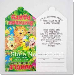 Best value Jungle Party Invitations – Great deals on Jungle Party Invitations from global Jungle Party Invitations sellers on AliExpress Birthday Invitations Kids, Party Invitations, Jungle Lion, Keyword Trends, Shapes For Kids, Jungle Party, Invitation Paper, Youre Invited, Party Supplies