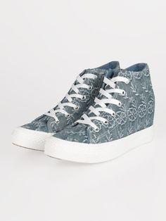 1910f026c2 ORIGINAL MARINES Sneakers alte con zeppa interna e ricami | MEC Shopping  online