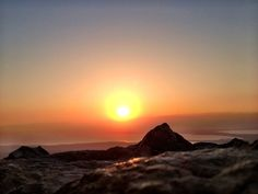 The Sun rising over the Judean Desert - taken at dawn from the top of Masada #Sachlav #Birthright #Israel