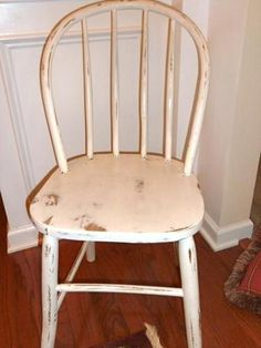 Cute,ANTIQUE, 1890's SHABBY/COTTAGE CHIC, BENTWOOD HAND PAINTED, SIDE CHAIR