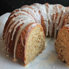Tender, cinnamony Cider Glazed Apple Bundt Cake from America's Test Kitchen's The Perfect Cake cookbook. Apple Bunt Cake, Apple Bundt Cake Recipes, Fresh Apple Cake, Apple Desserts, Apple Recipes, Dessert Recipes, Apple Pie, Food Cakes, Cupcake Cakes