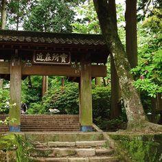 The entrance to Jōchi Shrine in the lush forests of Kamakura, not too far from Kita-Kamakura Station.