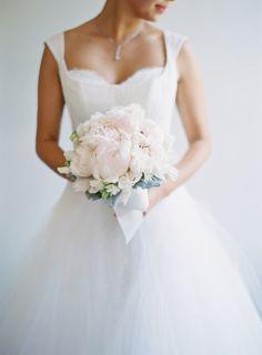 Pale pink peonies: http://www.stylemepretty.com/2014/06/18/black-tie-al-fresco-affair-in-napa/ | Photography: Kurt Boomer - http://kurtboomer.com/ Wedding Trends, Black Tie, Wedding Bouquets, Wedding Flowers, Floral Bouquets, Bridal Gowns, Wedding Gowns, Blush Bridal, Mod Wedding