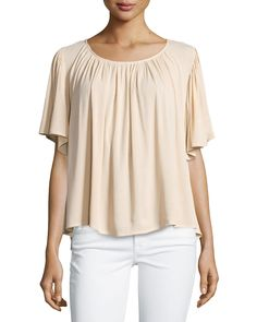 On the Road Lola Relaxed Flowy Blouse, Tan