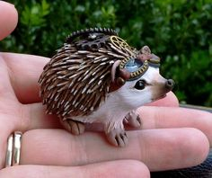 #Steampunk #animalpal for today…an adorable #hedgehog :-) he turned out cuter…