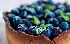 Små fine blåbær-mazariner