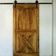 Retro, dębowe drzwi przesuwne BARN.