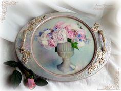 образец №2 Coffee Tray, Decoupage, Decorative Plates, Christmas, Beautiful, Trays, Home Decor, Craft, Decorated Boxes