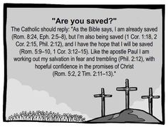 """Orthodox, Catholic, Anglican (And some other Protestants), believe this. Other Christians believe in """"Once Saved, Always Saved"""" which generally includes the """"Sinner's Prayer"""". Catholic Quotes, Catholic Prayers, Religious Quotes, Catholic Theology, Orthodox Catholic, Catholic Religion, Catholic Art, Catholic Answers, Religious Education"""