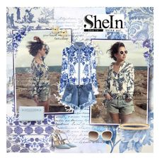 """""""SheIn"""" by kristina-kazlauskaite ❤ liked on Polyvore featuring Safavieh, Missguided, Valentino, Lord & Taylor, MANGO, Kate Spade, Roberto Cavalli, Blue, Sheinside and porcelain"""