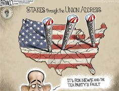 """State of the union is an Obama designed disaster. Obama-care, and Obama-nomics have devastated America along with all the Obama-scandals. His solution? Usurp the Constitution and sidestep Congress. Can anyone say """"banana republic dictator""""? #SOTU"""