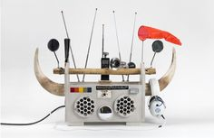 Creative sculptural renditions of classic boombox models come to Brooklyn Museum.