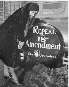 By the start of the 1930s, it was clear that the American public was in favor of repealing the Eighteenth Amendment, known as Prohibition.