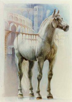 """"""" Pegasus"""" watercolor 100X70 1997"""