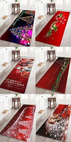 Love the top left one. home decor ideas:Christmas bath rugs to decorate your bathroom Christmas Rugs, All Things Christmas, Christmas Holidays, Christmas Ideas, Holiday Crafts, Holiday Decor, Snacks Für Party, Bath Rugs, Xmas Decorations