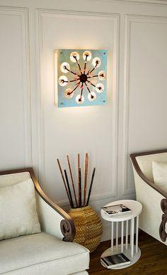 decorative modern purple wall lamp,