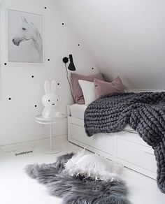 A gorgeous little girl's room by @mittlillehjerte, Miffy lamp available at www.istome.co.uk