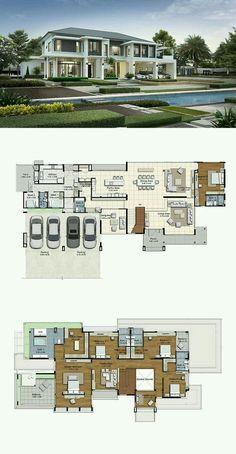 43 Ideas House Decor Farmhouse Floor Plans For 2019 House Plans Mansion, Sims House Plans, House Layout Plans, Dream House Plans, Modern House Plans, House Layouts, Modern House Design, Living Haus, Farmhouse Floor Plans