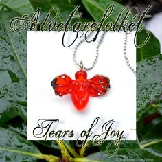 Tears Of Joy, Nymph, Fairy, Pendant Necklace, Red, Jewelry, Nymphs, Jewlery, Jewerly