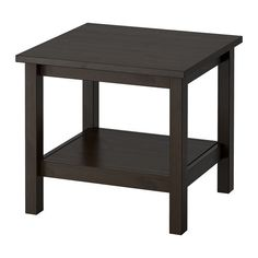 IKEA - HEMNES, Side table, black-brown, , Solid wood has a natural feel.</t><t>Separate shelf for magazines, etc. helps you keep your things organized and the table top clear.